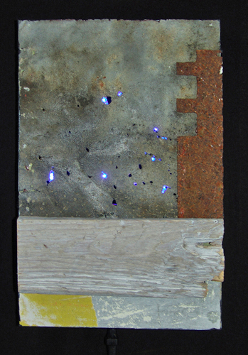 L.E.D. (let every one dream) mixed media with leds (2014) 20 x 31 cm