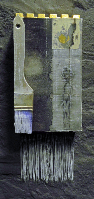 'One storey up' mixed media (2012) 14 x 37 cm