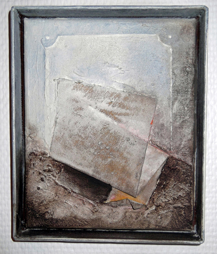 'painters ladscape' mixed media (2010) 19 x 23 cm